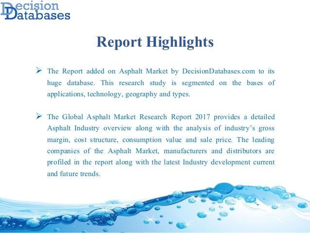 Global Asphalt Market Manufactures and Key Statistics