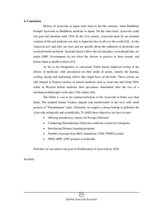 Global ayurveda scenario