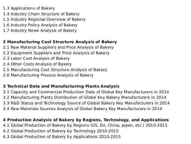 bakery industry analysis Clear, accurate us market analysis for business plans, strategy, and investments in the retail bakeries industry.
