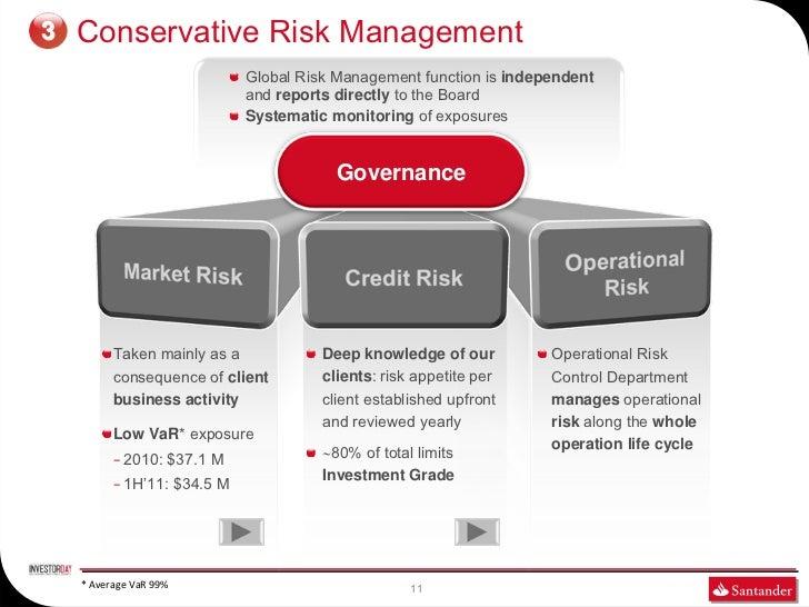 3   Conservative Risk Management                                  Global Risk Management function is independent          ...