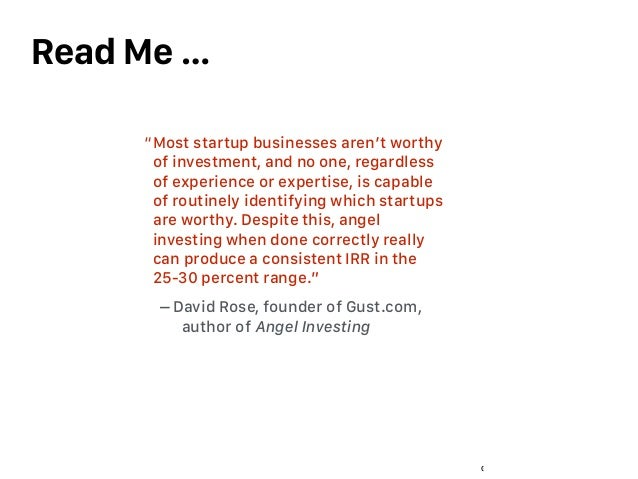 Global Beta Ventures - confidential Read Me … 3 Most startup businesses aren't worthy of investment, and no one, regardles...