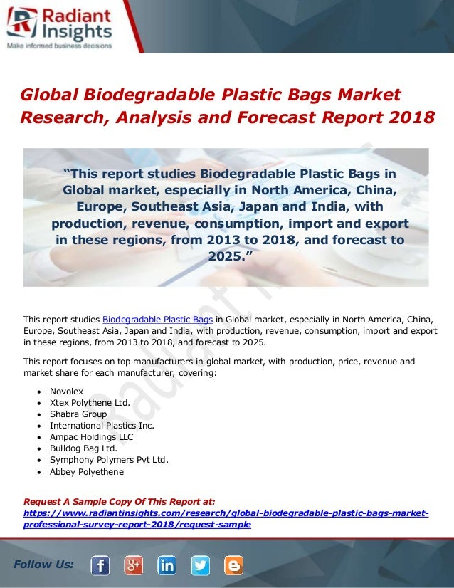 Global biodegradable plastic bags market research, analysis