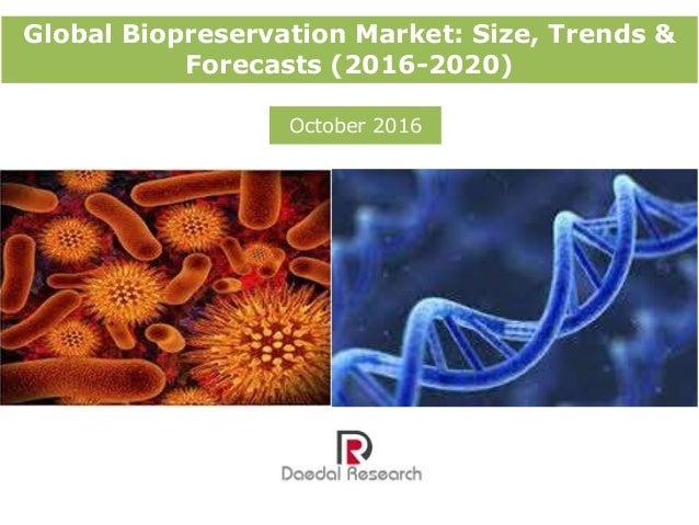 Global Biopreservation Market: Size, Trends & Forecasts (2016-2020) October 2016