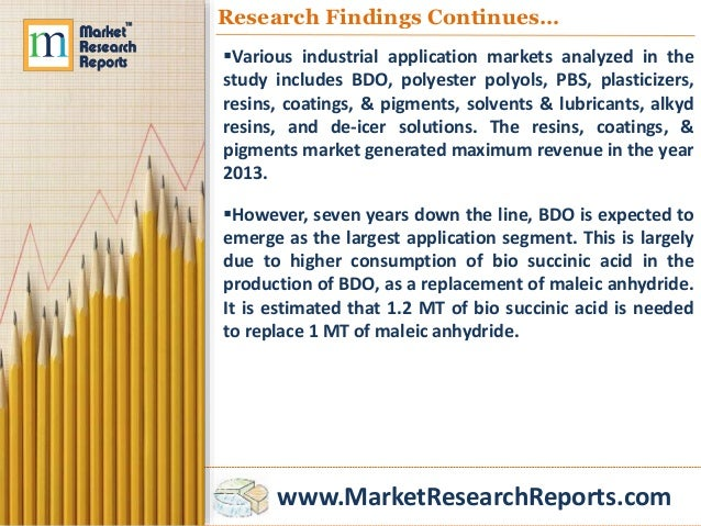 bio succinic acid market volume is expected Bioamber has developed a fermentation process to manufacture base chemicals from a renewable feedstock the company's ambitions are focused on succinic acid and the high-volume products butanediol and tetrahydrofurane the existing market for succinic acid is small, but expected to grow rapidly.