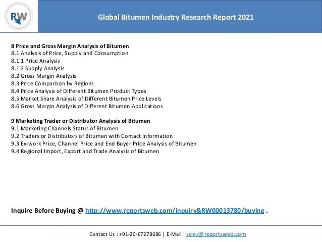 Global Bitumen Market Analysis and 2021 Forecasts Research