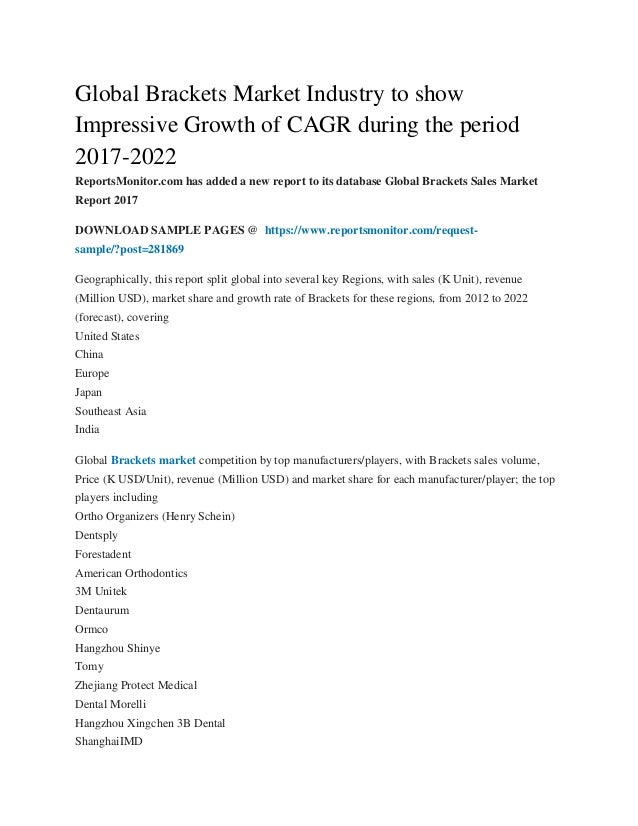 Global brackets market industry to show impressive growth ...
