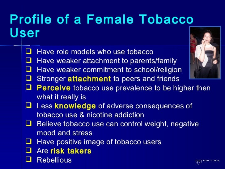 The role of tobacco smoking on the development of nicotine user disorder