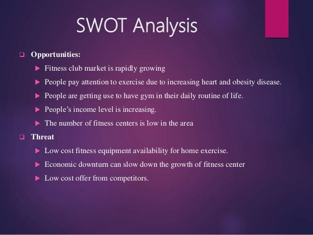 swot analysis of true yoga The swot analysis is one of the most commonly used strategic planning  an  opportunity is a condition in the macro or fitness industry.