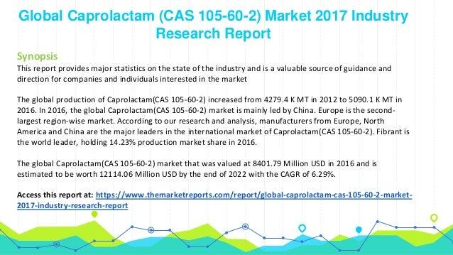 Caprolactam Market Size Worth $174 Billion By 2022 | CAGR 2%