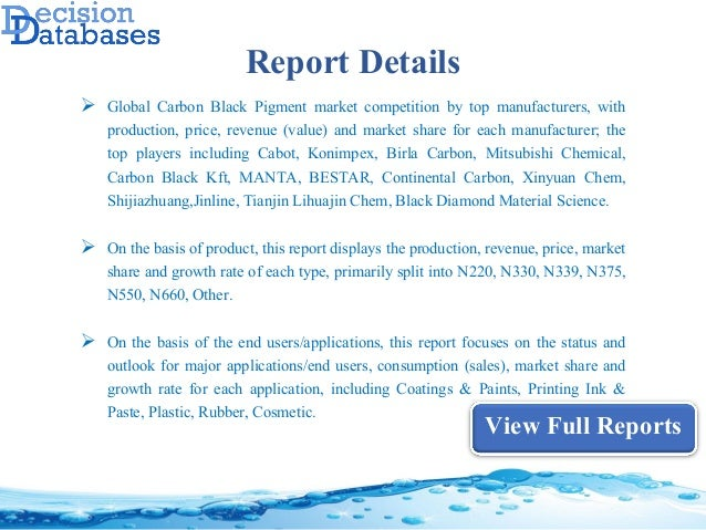 Global Carbon Black Pigment Market Manufacturers Analysis and Industr…
