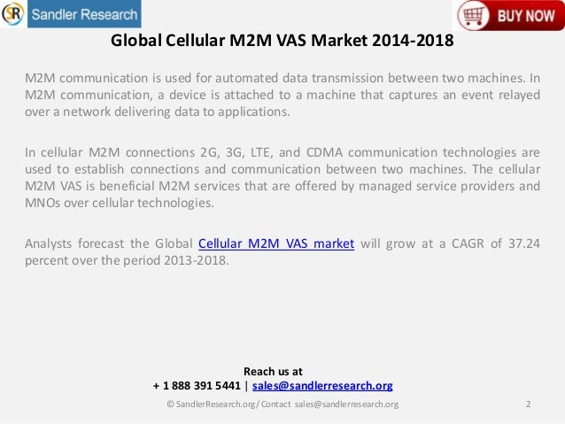 Cellular M2M VAS Industry 2018 Overview for APAC, Europe, America & MEA Regions Slide 2