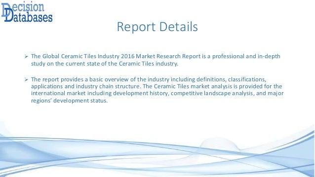 Ceramic Tiles Industry 2016: Global Market Outlook