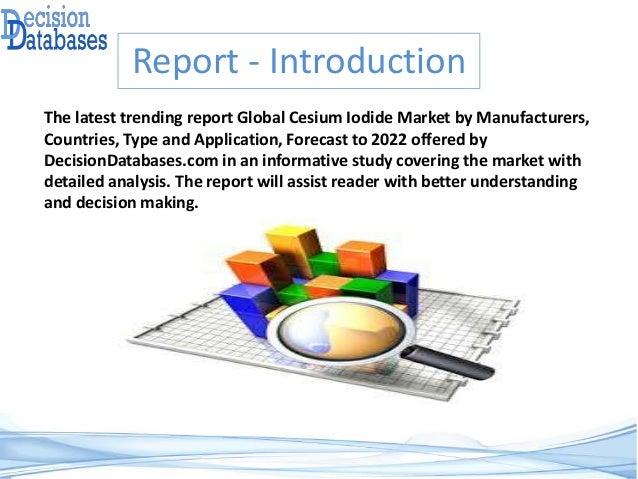 Cesium Iodide Market Report 2017 : 2022 - Global Industry