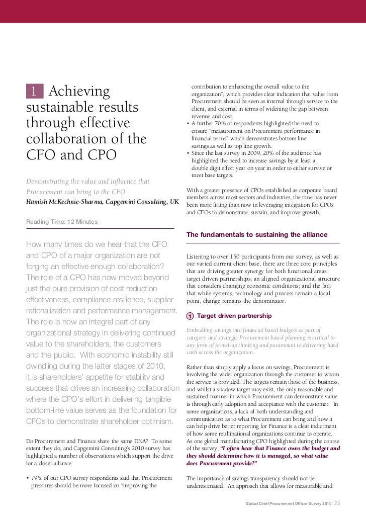 Global Chief Procurement Officer Survey 2010