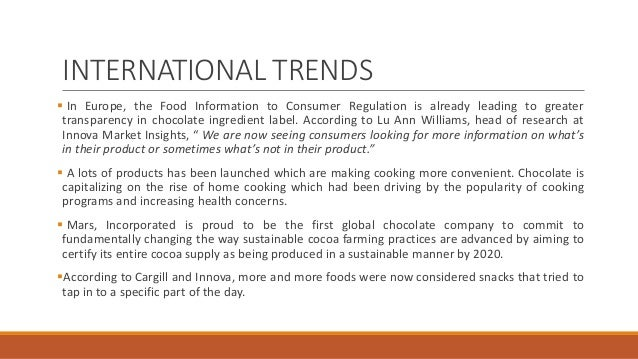 how globalisation influences the chocolate industry In 2014 the total global retail value sales of chocolate confectionery reached a  be triggered by factors like food speculation  losers in a lucrative cocoa.