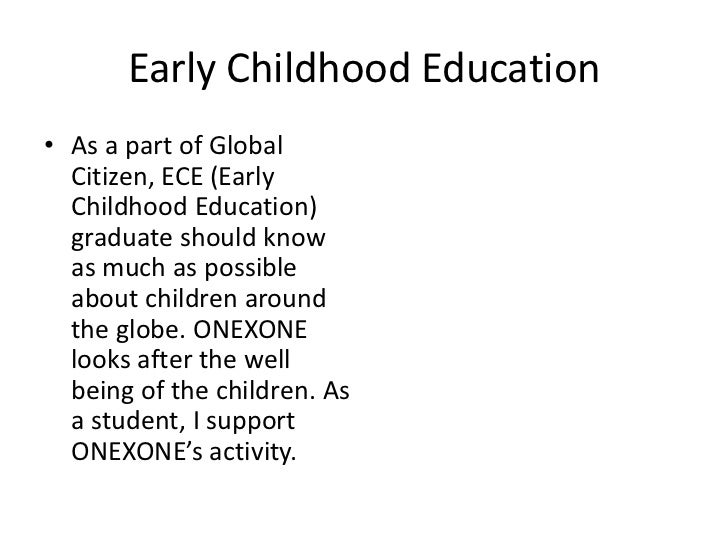 global citizen powerpoint early childhood education 12