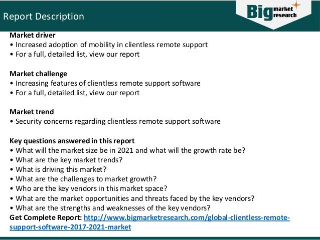 Global clientless remote support software market