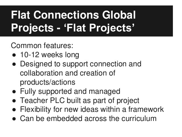 Global collaboration in the classroom: Meet Flat Connections