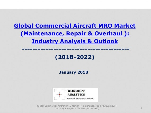 Global Commercial Aircraft MRO Market (Maintenance, Repair & Overhaul ): Industry Analysis & Outlook ---------------------...
