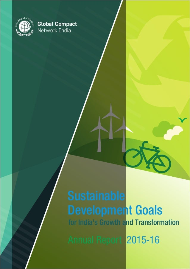 for India's Growth and Transformation Annual Report 2015-16 Sustainable Development Goals