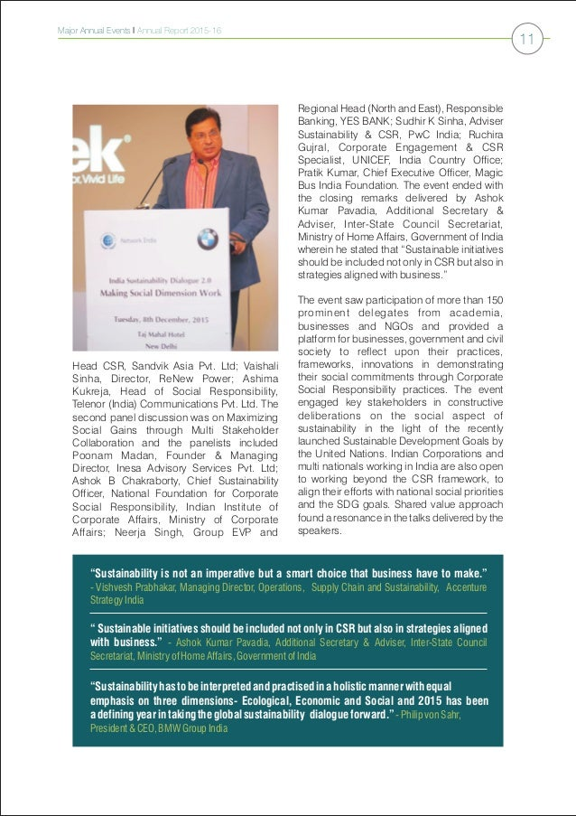 Global Compact Network India Annual Report 2015 16