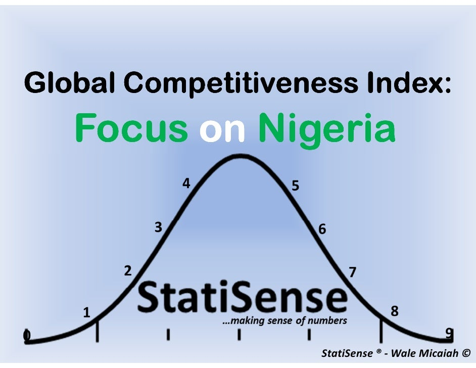 Global Competitiveness Index:   Focus on Nigeria                    StatiSense ® - Wale Micaiah ©