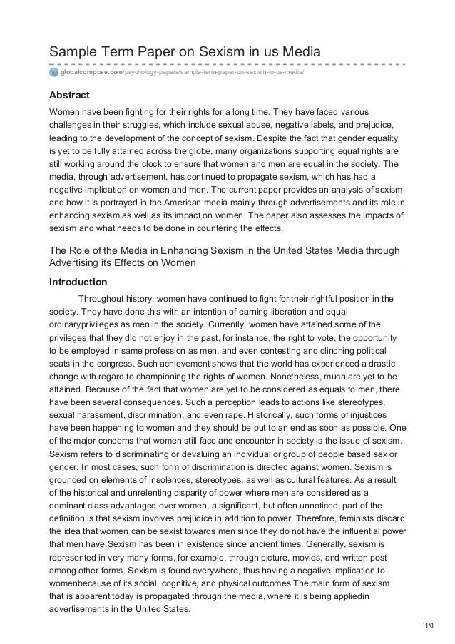 Term paper on media