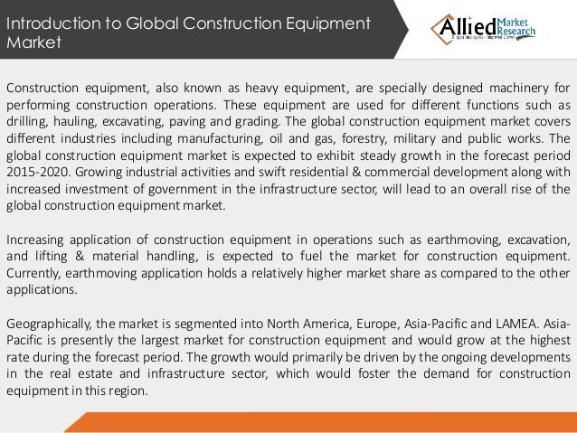 global construction equipment market 2014 to Construction and mining equipment global industry 2018 sales, supply and consumption forecasts to 2021  and mining equipment market size and price analysis 2014-2017 46 global construction and.