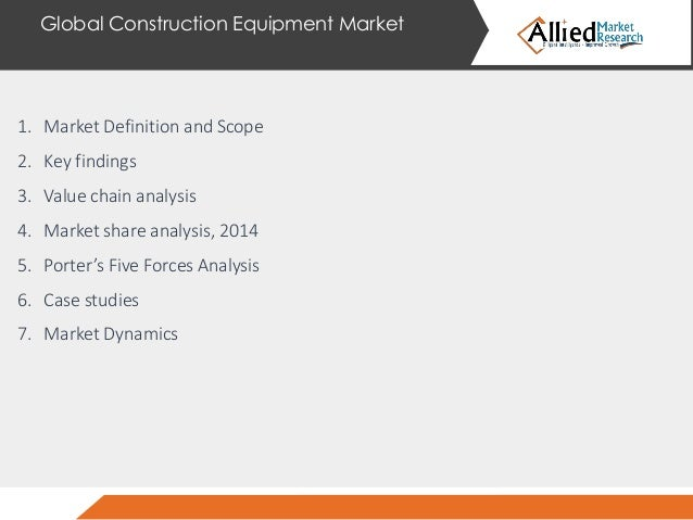 global construction equipment market industry Construction equipment, also known as heavy equipment, are specially designed machinery for performing construction operations these equ.