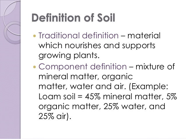 Global contamination of soil for Mineral soil definition