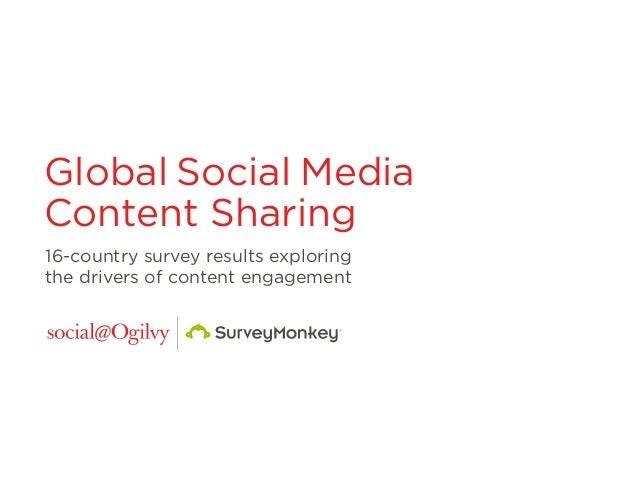 Global Social Media Content Sharing 16-country survey results exploring the drivers of content engagement