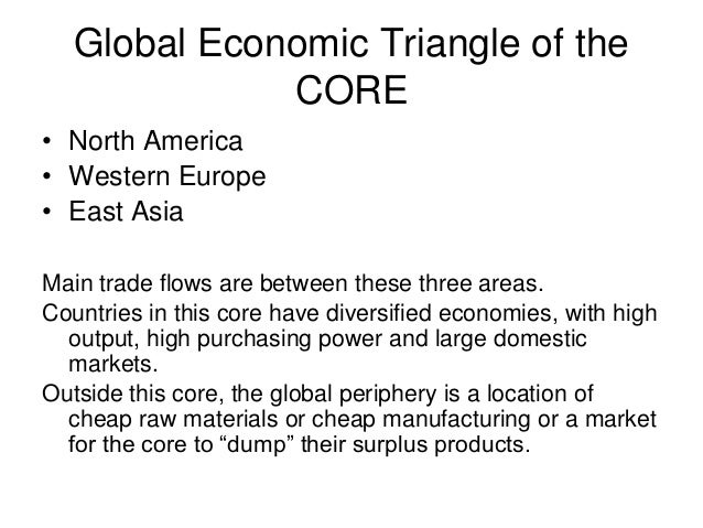 Global core and periphery essay