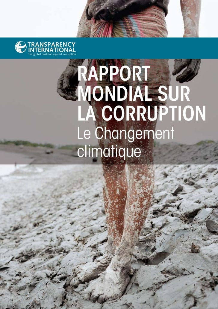 RappoRtMondial suRla CoRRuptionLe Changementclimatique