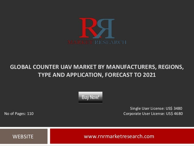 GLOBAL COUNTER UAV MARKET BY MANUFACTURERS, REGIONS, TYPE AND APPLICATION, FORECAST TO 2021 www.rnrmarketresearch.comWEBSI...