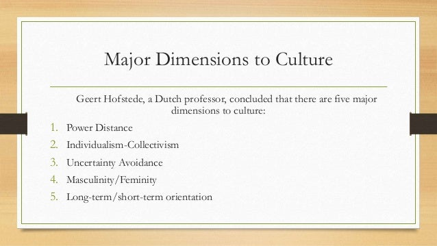 3 main difference in management culture Trompenaars and hampden-turner developed the model after spending 10 years researching the preferences and values of people in dozens of cultures around the world as part of this, they sent questionnaires to more than 46,000 managers in 40 countries they found that people from different cultures aren't just.