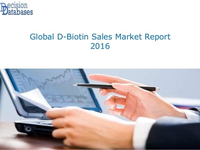Global D-Biotin Sales Market Report 2016