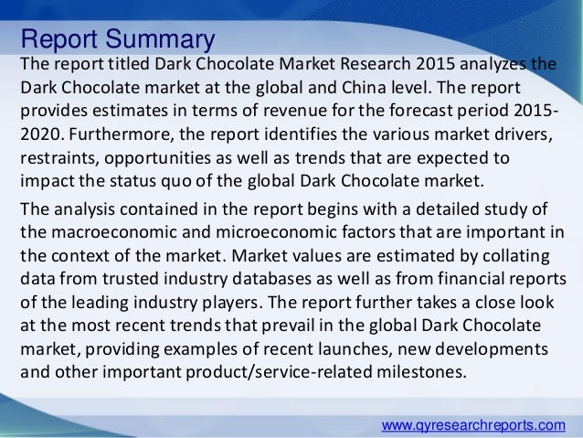 report of analysis about heavenly chocolates Cengage australia is a leading provider of learning solutions for the school and higher education markets for australia and new zealand.