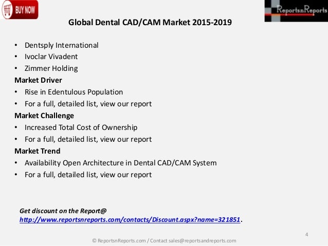 global dental cad cam market 3 days ago  htf mi recently launched the global dental cad/cam restoration system study with 100+ market data tables, pie chat, graphs & figures.
