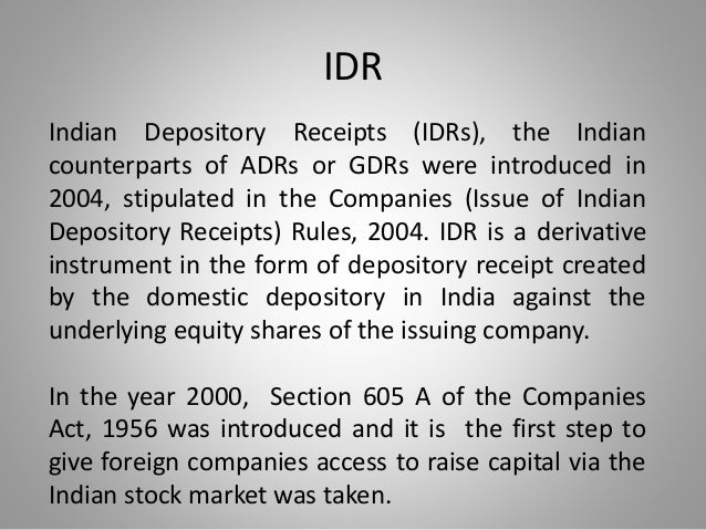 Image result for indian depository receipts