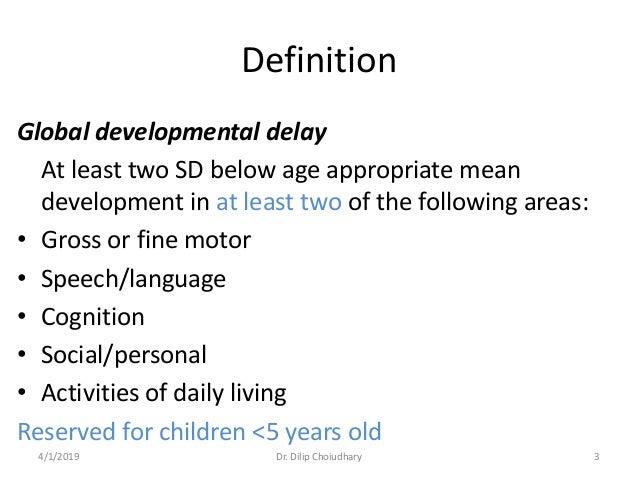 what is global developmental delay disorder