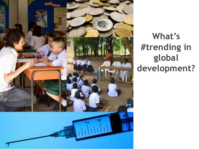What's #trending in global development?