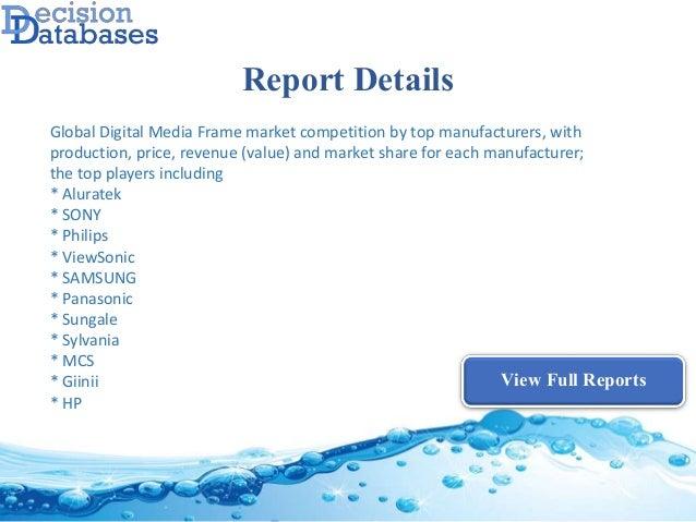 Global digital media frame market research report 2017