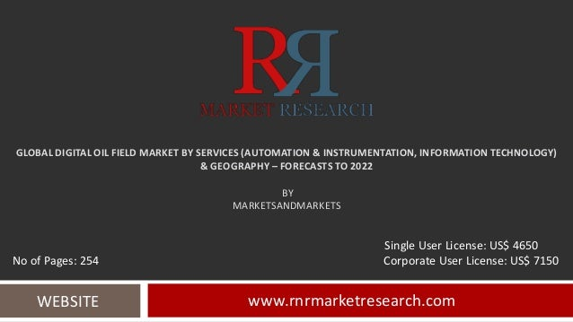 GLOBAL DIGITAL OIL FIELD MARKET BY SERVICES (AUTOMATION & INSTRUMENTATION, INFORMATION TECHNOLOGY) & GEOGRAPHY – FORECASTS...