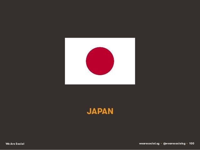 JAPAN  We Are Social  wearesocial.sg • @wearesocialsg • 100