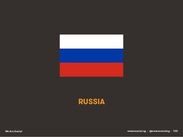 RUSSIA  We Are Social  wearesocial.sg • @wearesocialsg • 120