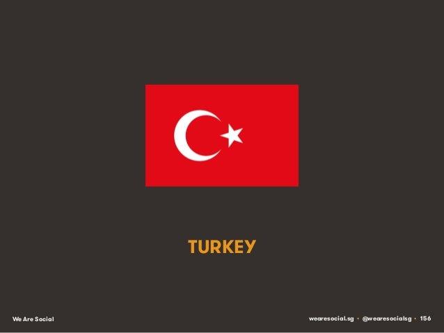TURKEY  We Are Social  wearesocial.sg • @wearesocialsg • 156