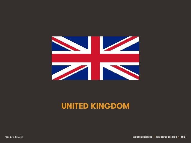 UNITED KINGDOM  We Are Social  wearesocial.sg • @wearesocialsg • 168
