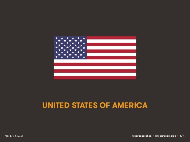 UNITED STATES OF AMERICA  We Are Social  wearesocial.sg • @wearesocialsg • 174