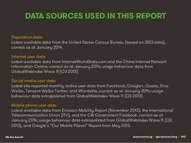 DATA SOURCES USED IN THIS REPORT Population data Latest available data from the United States Census Bureau (based on 2013...