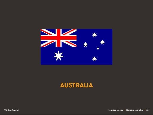 AUSTRALIA  We Are Social  wearesocial.sg • @wearesocialsg • 46